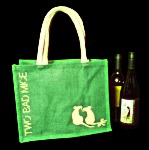 Julian Williams: Lime Green Eco Bag
