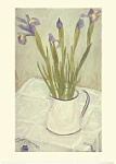 Melanie Epps: Irises In A White Jug